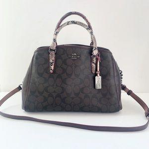 Coach Margot Signature Exotic Mix Satchel Hand Bag